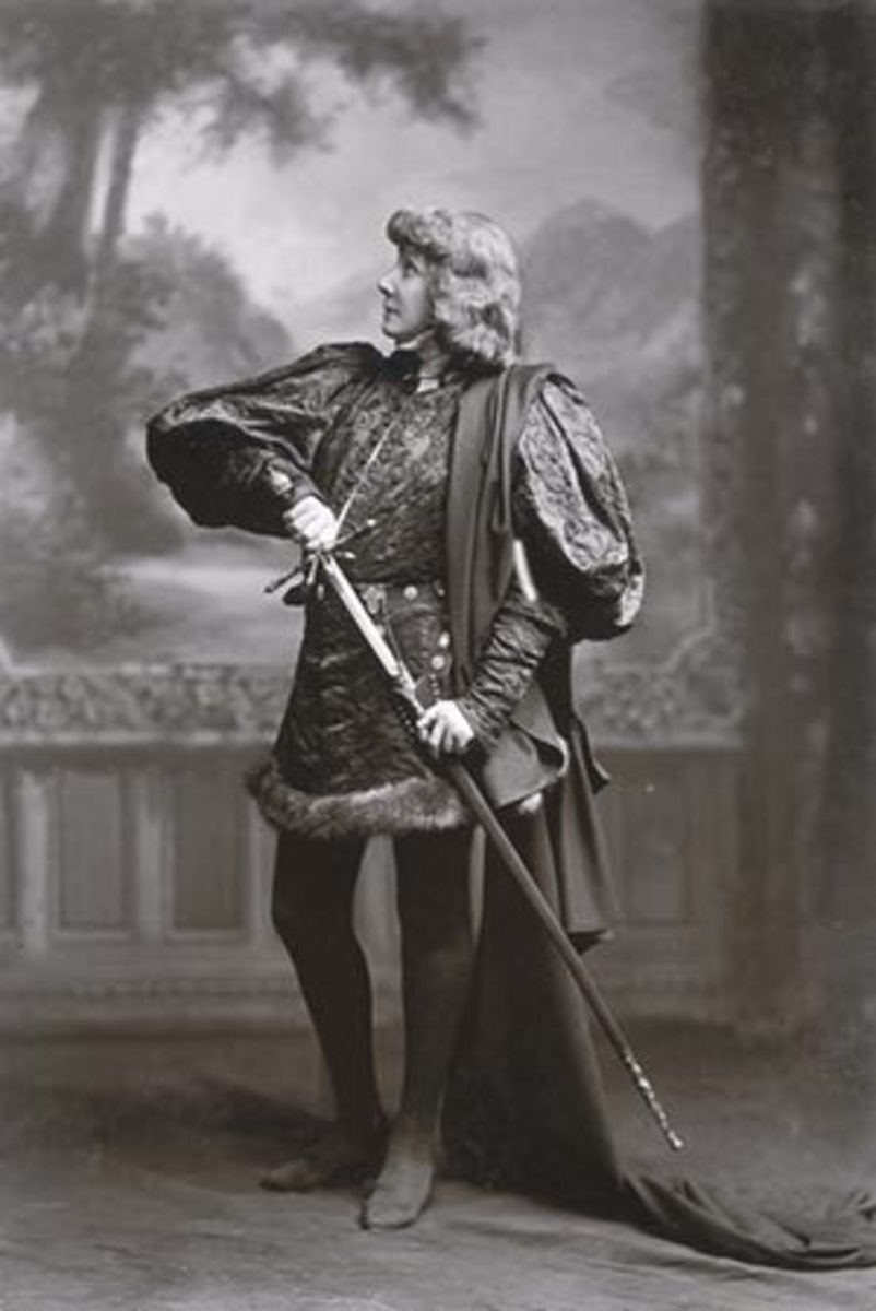 Another time that Sarah Bernhardt played a famous male part was when she played Hamlet.