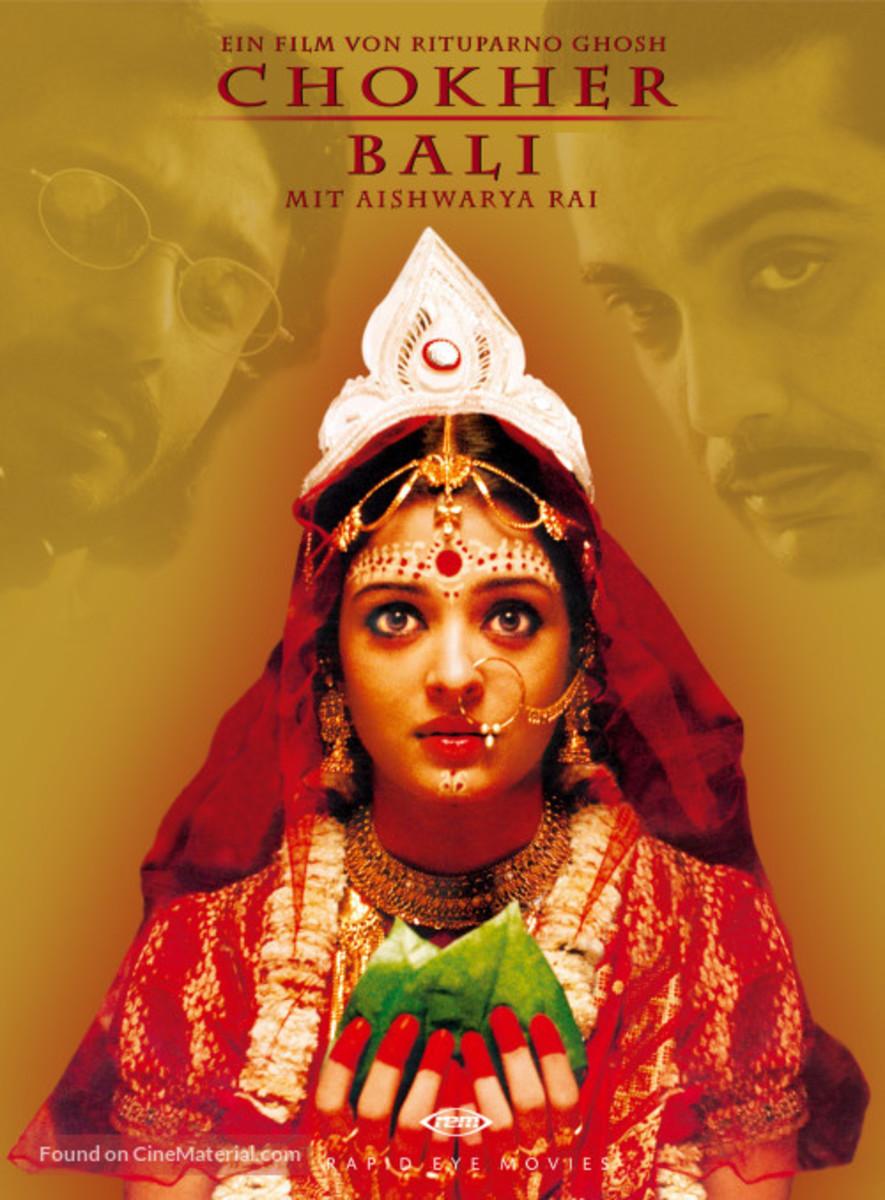 Aishwarya Rai as Binodini in the Movie Chokher Bali