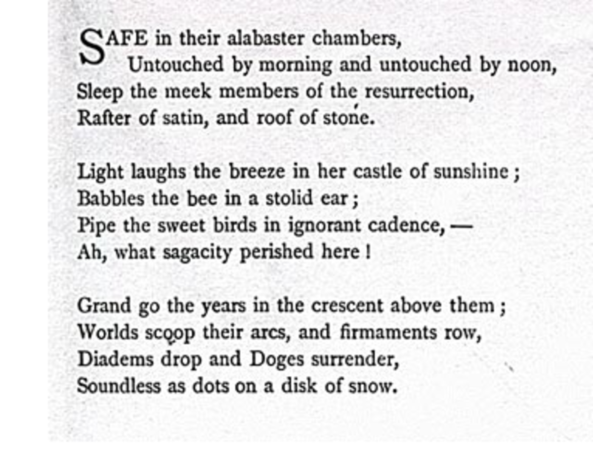 analysis-of-poem-safe-in-their-alabaster-chambers-by-emily-dickinson