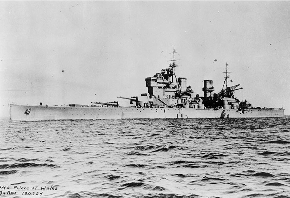 Historians generally agree that the Great Depression ended with the advent of World War II.  Pictured is the HMS Prince of Wales,  ordered in 1936 as part of the British re-armament program, which lasted from 1934 to 1939.