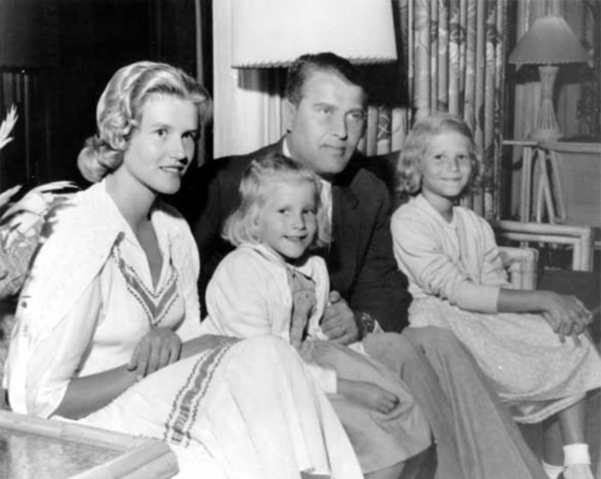 Von Braun with his wife and two daughters.