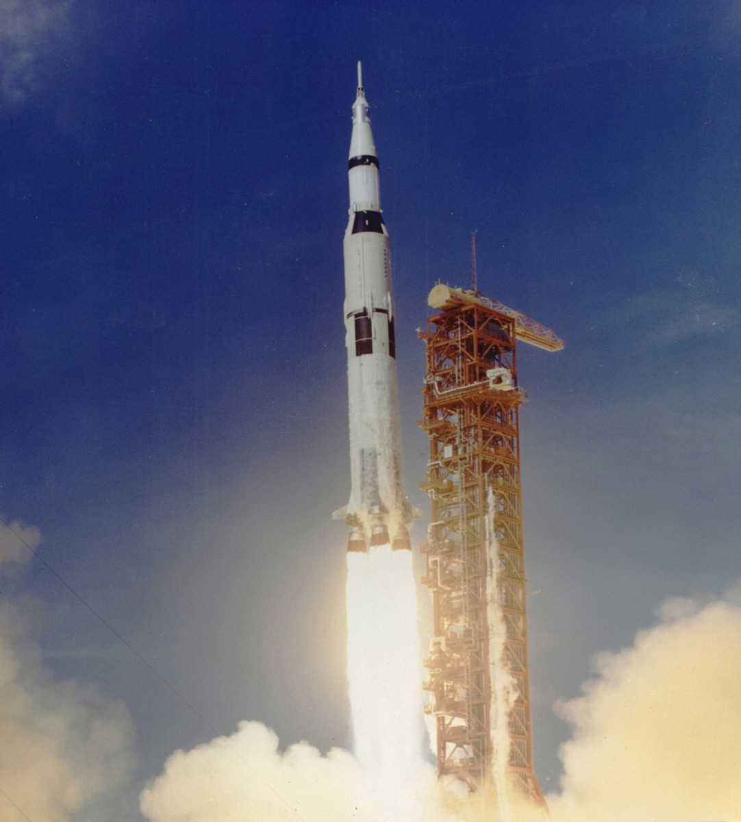 The Apollo 11 mission, the first manned lunar mission, launched from the Kennedy Space Center, Florida via the Marshall Space Flight Center developed Saturn V launch vehicle on July 16, 1969 and safely returned to Earth on July 24, 1969.