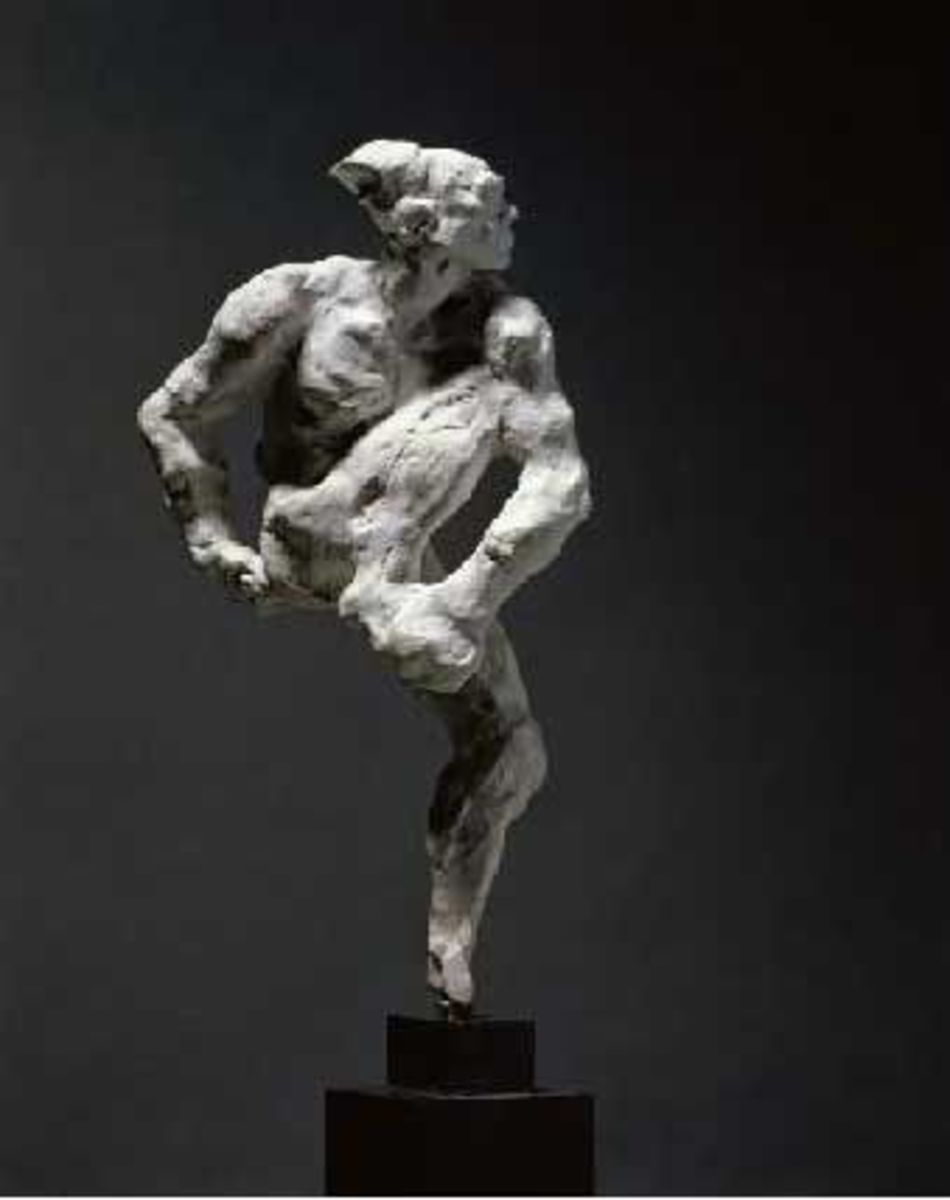 Auguste Rodin was so impressed with Ninjinsky's musculature that he made this sculpture.