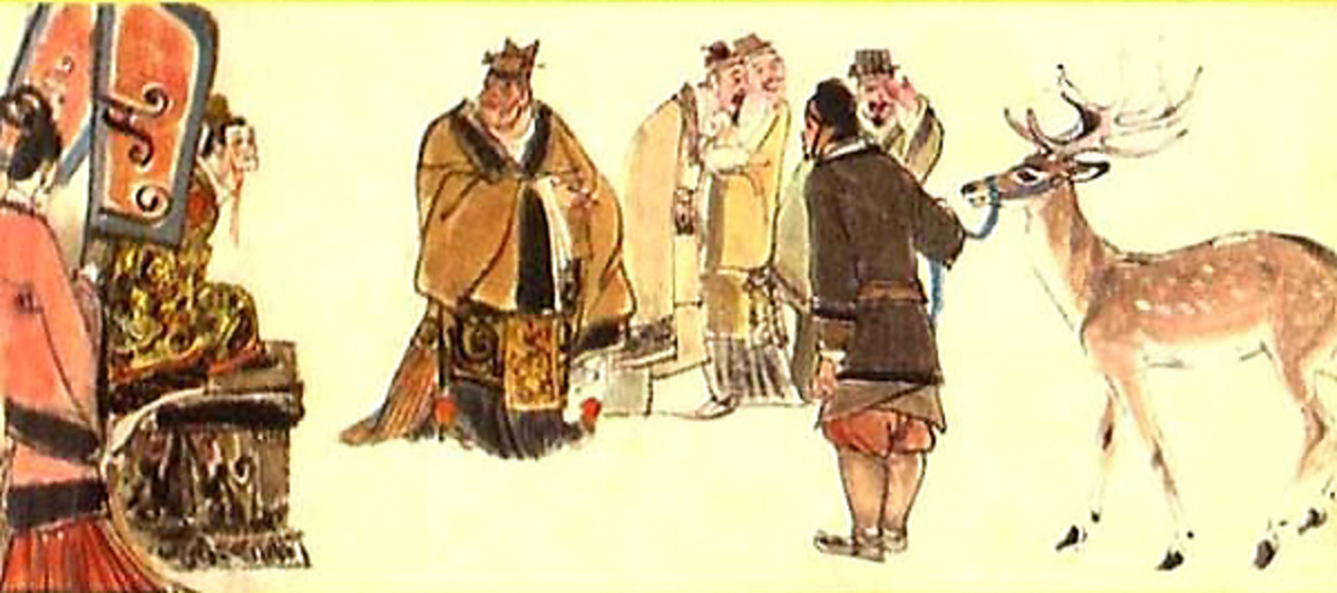 "The Chinese story of ""calling a deer a steed"" is today used to illustrate the shortcomings of feudalistic societies, and the power of imperial Chinese eunuchs."