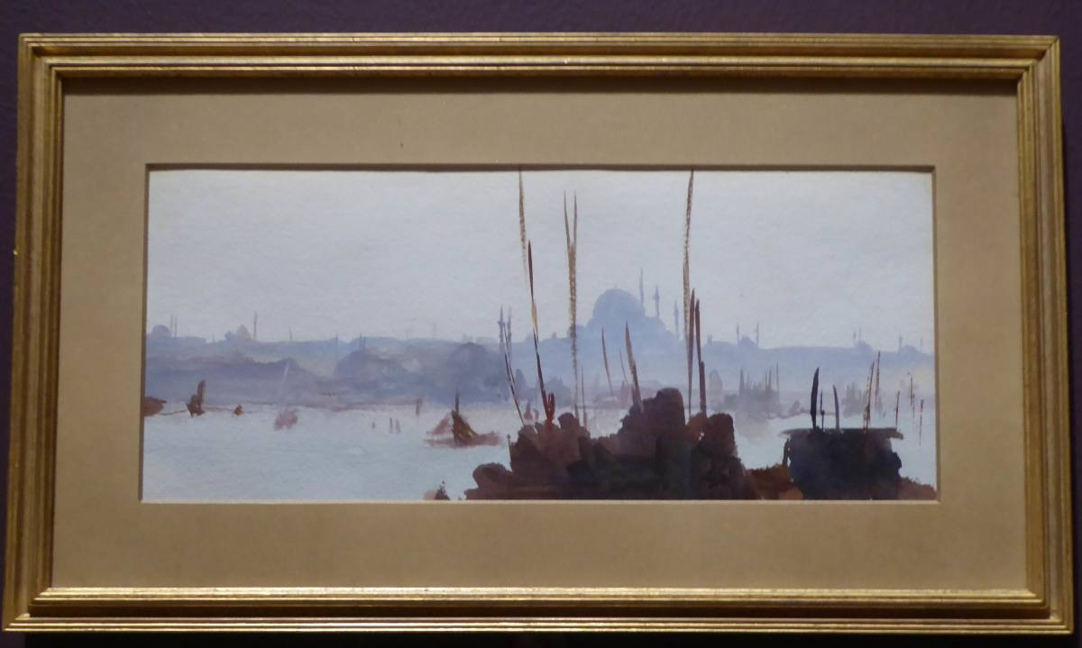 Sargent shows the city of Constantinople from across the Bospherous. Copyright image by Frances Spiegel with permission from Dulwich Picture Gallery. All rights reserved.