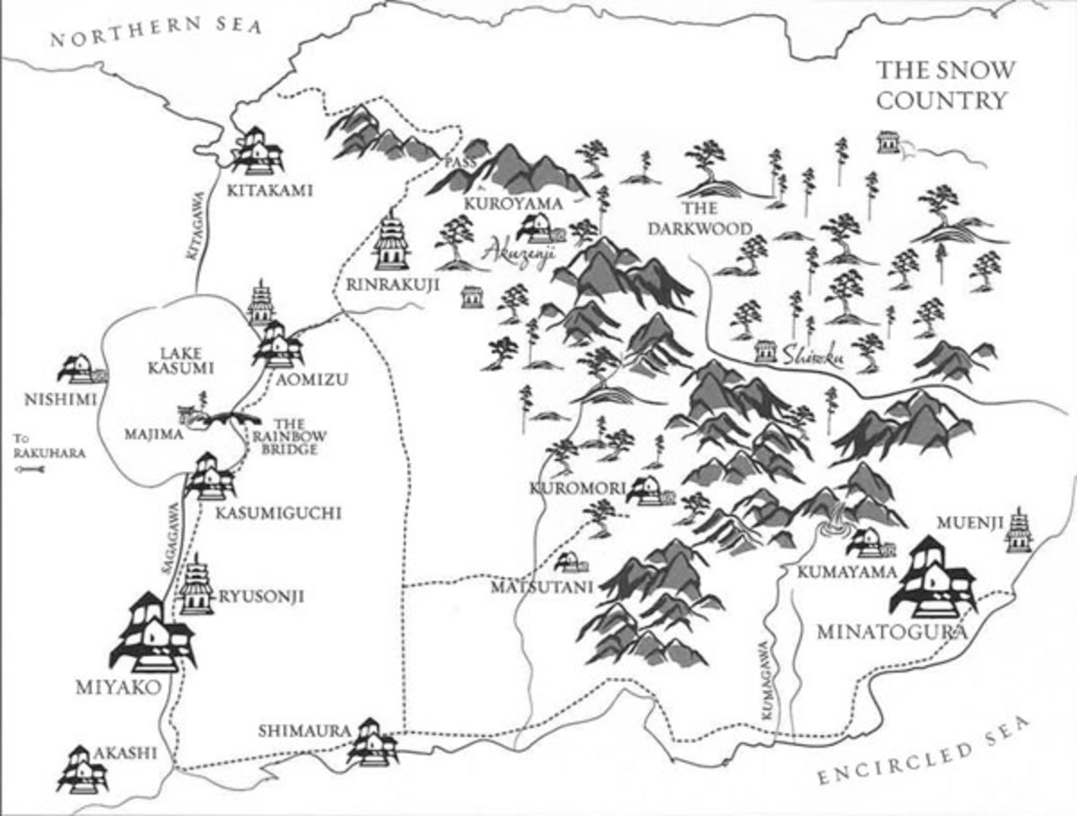 Map of the setting to Emperor of the Eight Islands.
