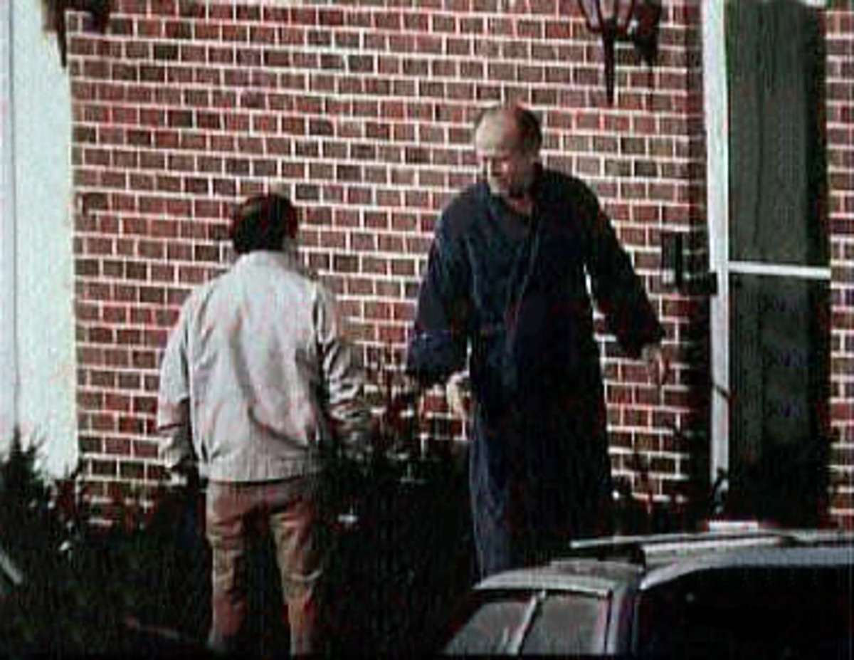 FBI surveillance photo of Whitey Bulger (right) with one of his close associates Stephen Flemmi.