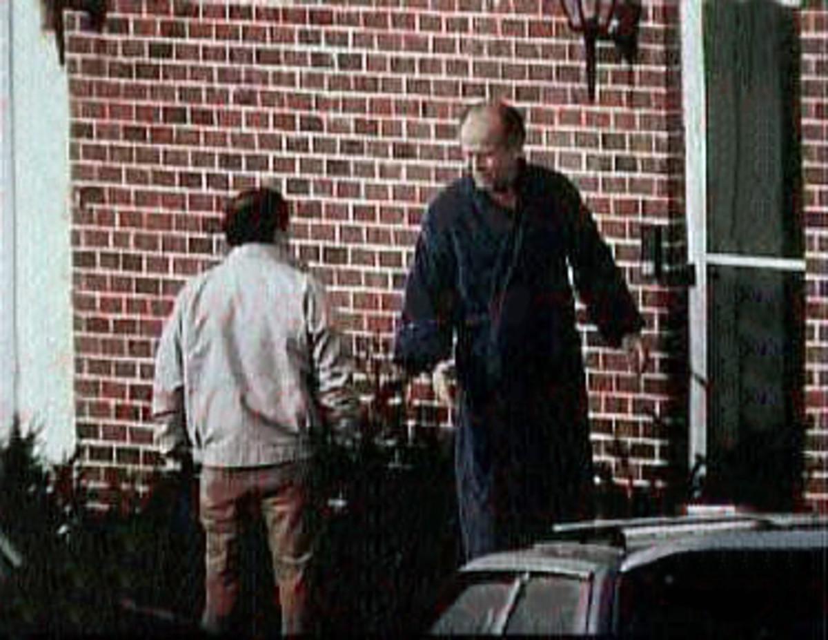 FBI surveillance photo of Whitey Bulger (right) with one of his close associates Stephen Flemmi.