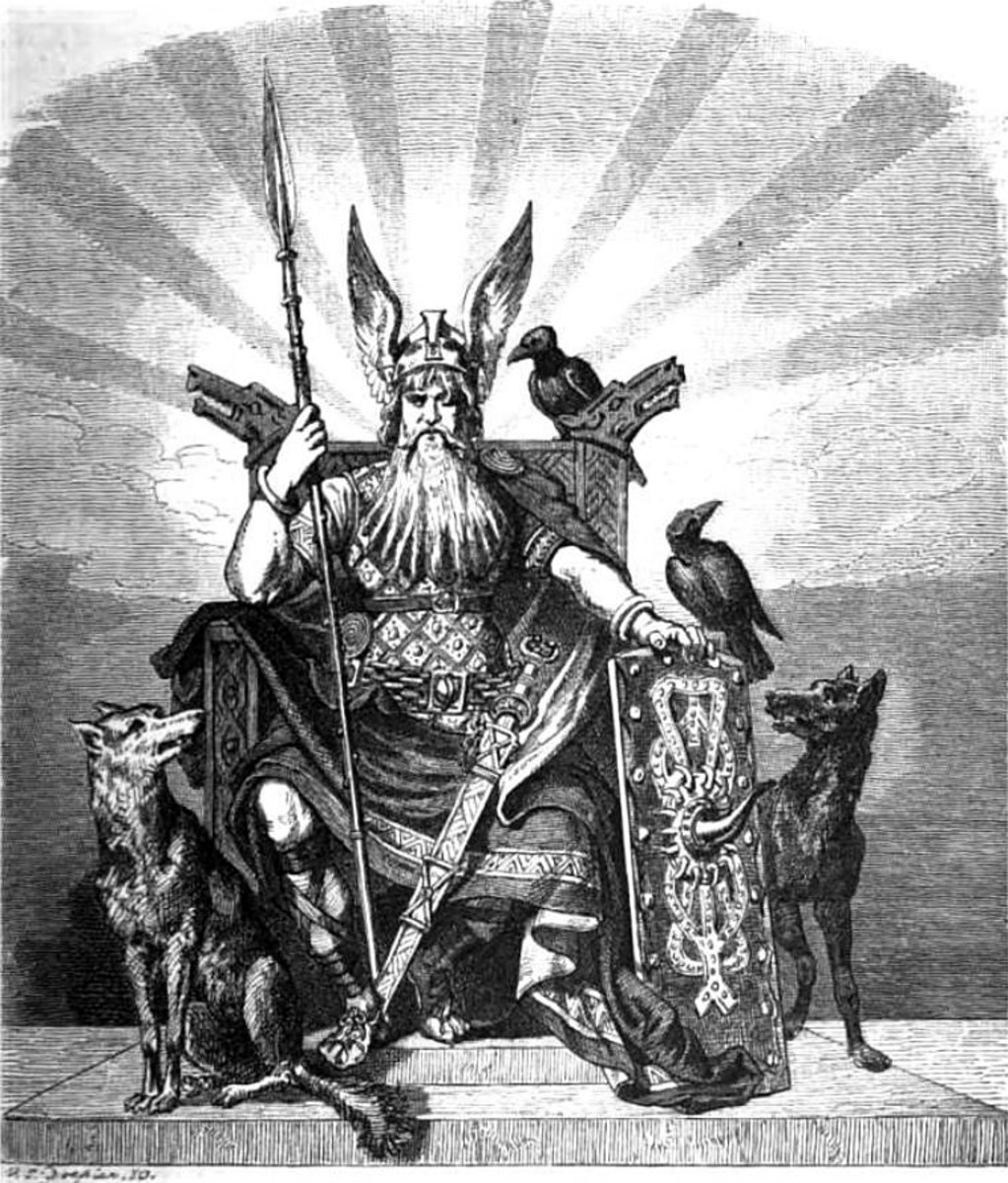 Odin in his High Seat (Similar to a Volva's High Seat).