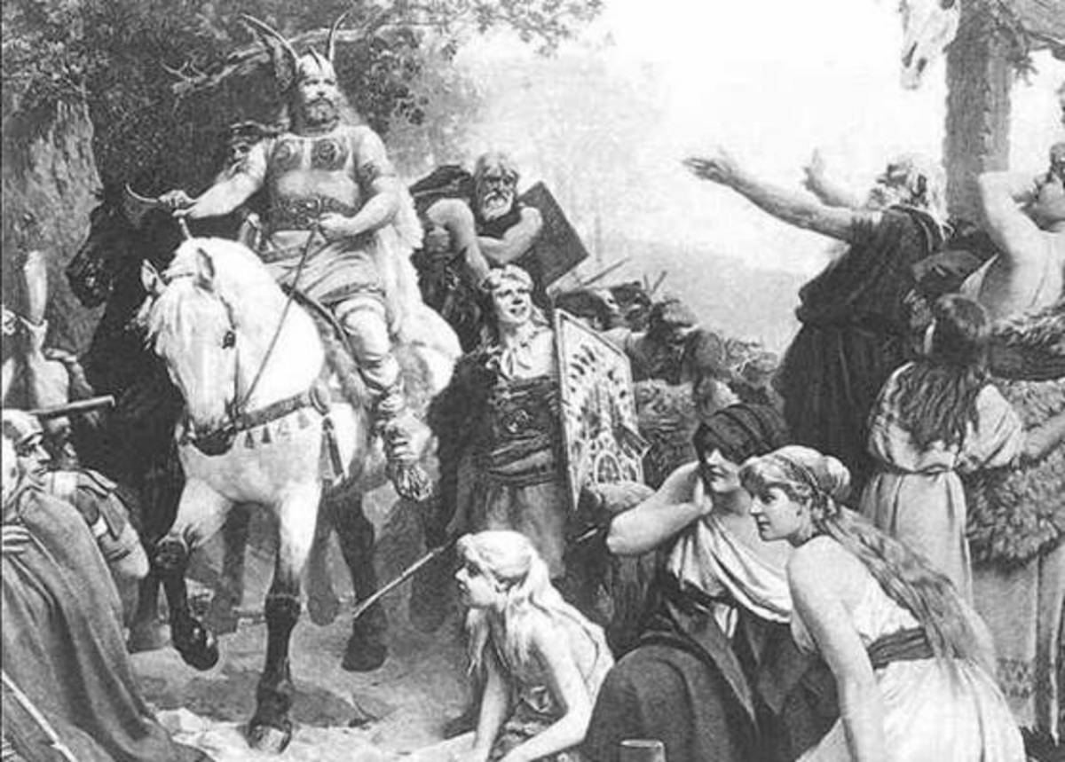 Depiction of Northern Barbarians (Germanic People).
