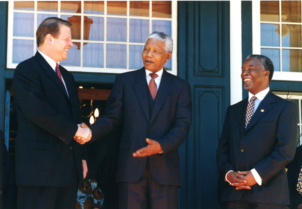 U.S. Vice President, Al Gore | South African President, Nelson Mandela | South African President, Thabo Mbeki (Successor to Nelson Mandela)