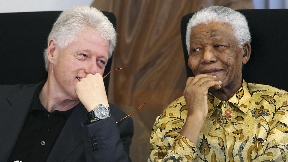 U.S. President, Bill Clinton & South African President, Nelson Mandela