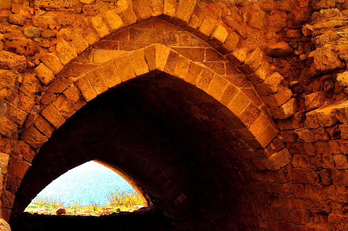 Apollonia Fort ruins.