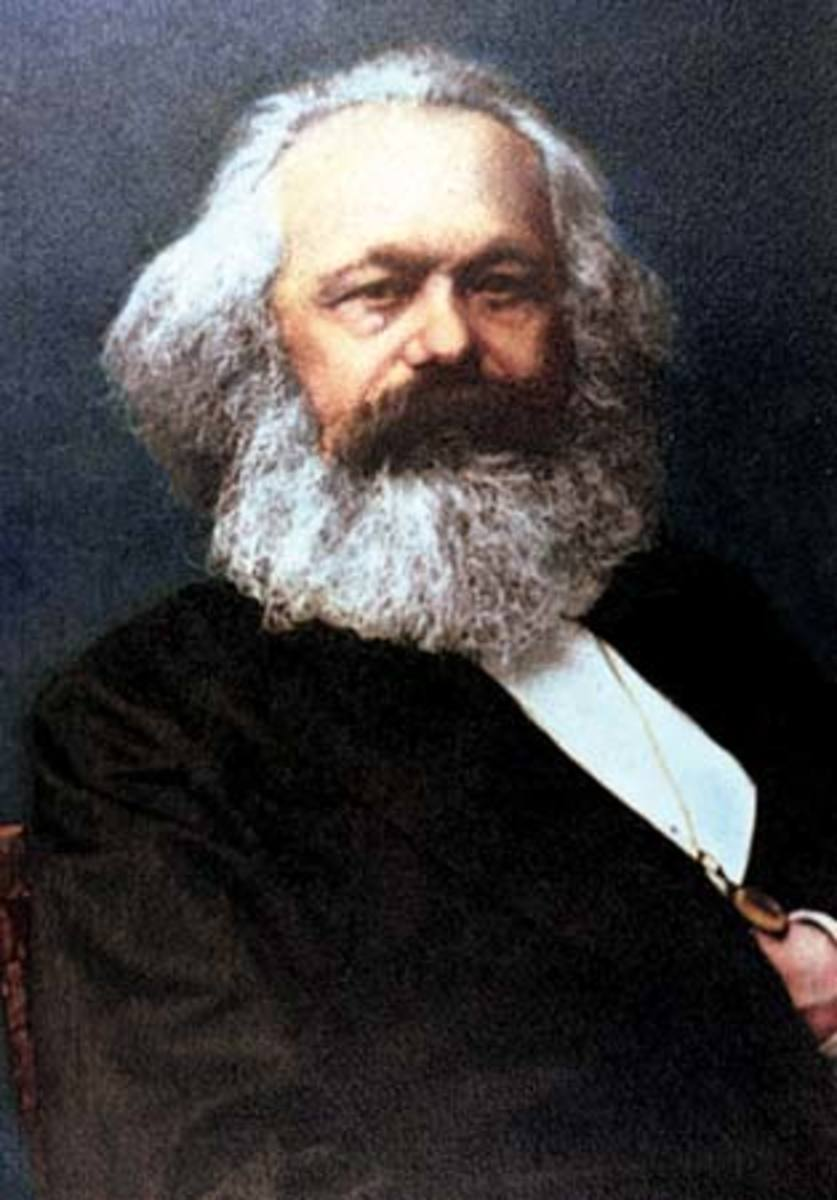 Portrait of Karl Marx.
