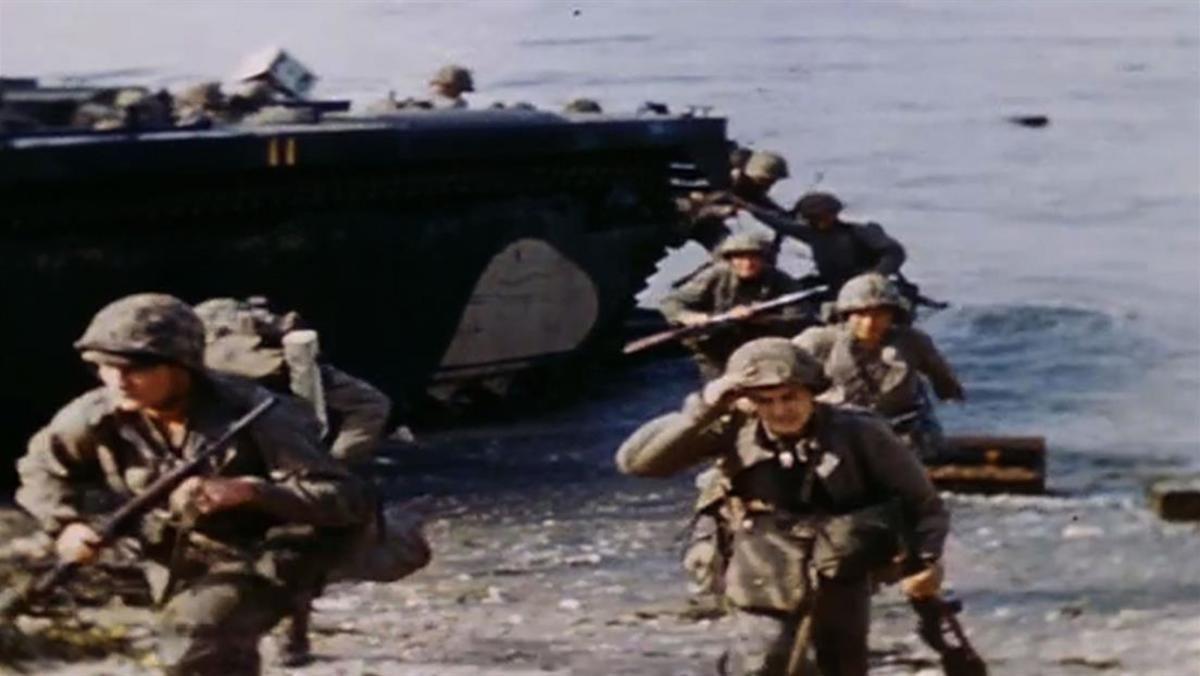 Marine amphibious landing.