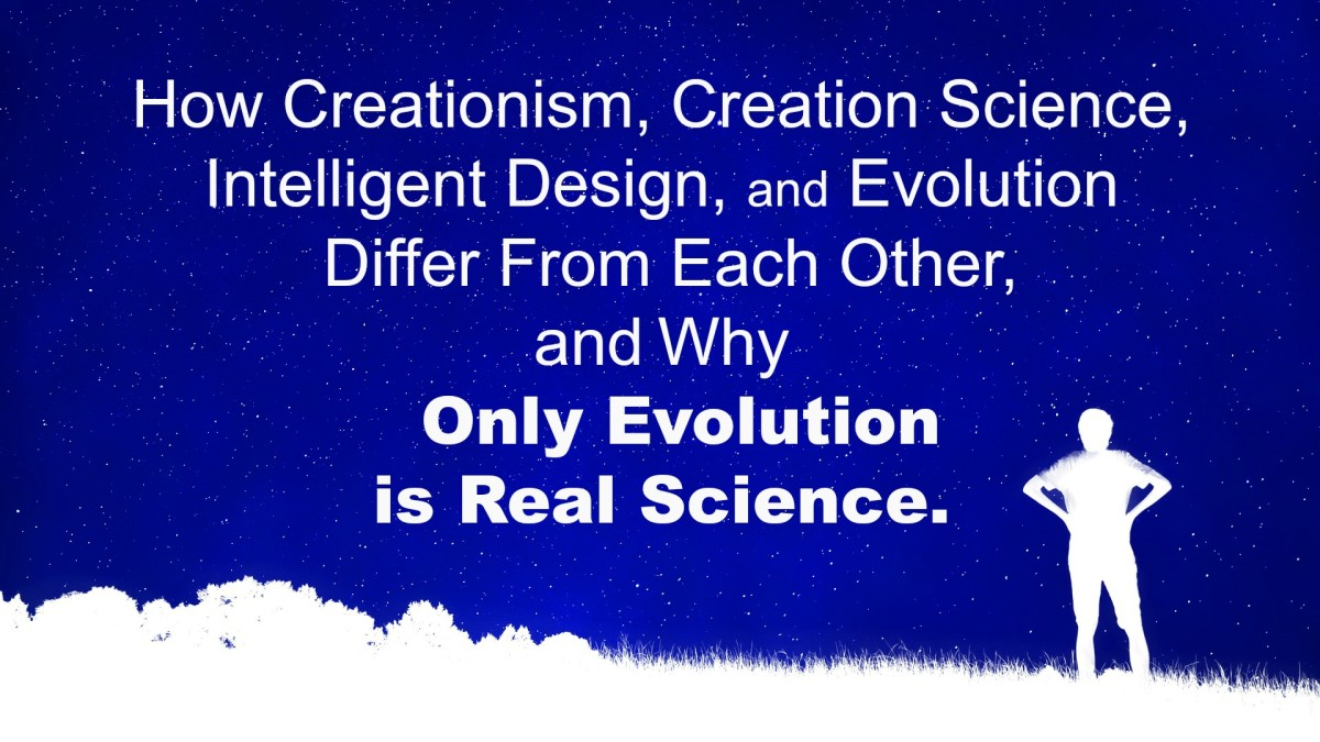 There are three distinct views about creation among religious groups.They may pretend to be science, but they are not.
