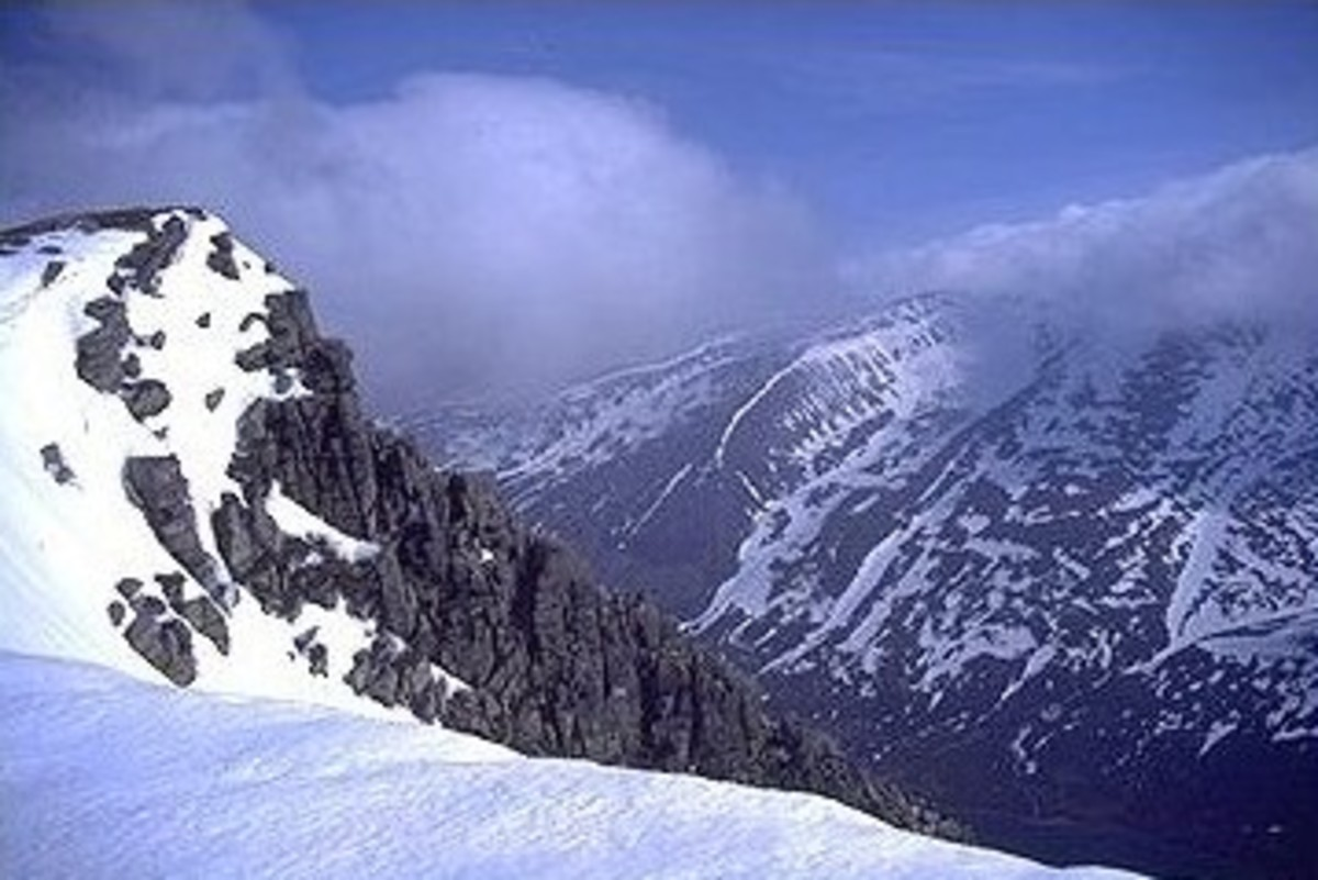 Braeriach; the highest peak in the Cairngorms, Scotland