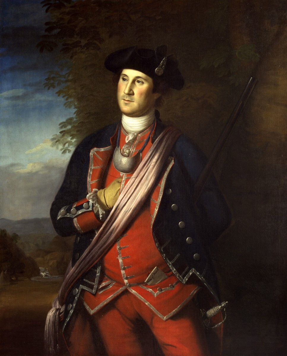 George Washington at age 40. Painting by Charles Wilson Peale.
