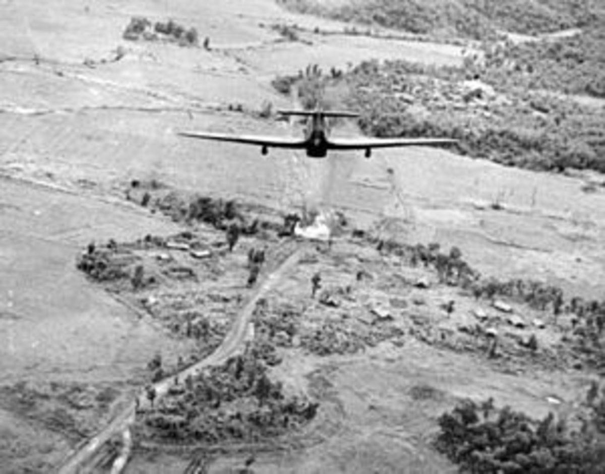 British Hurricane attack Japanese positions on a Burma Bridge