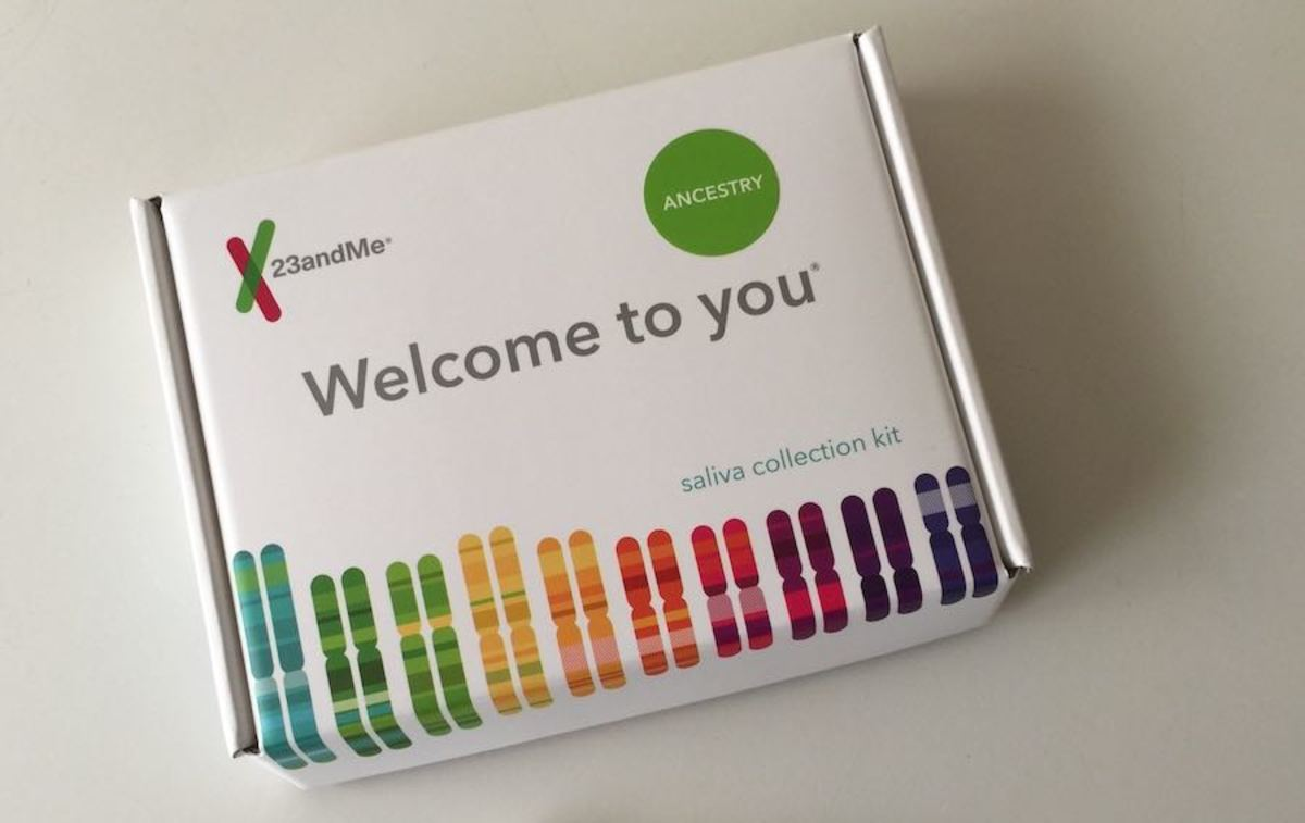 The box my 23andMe test kit came in