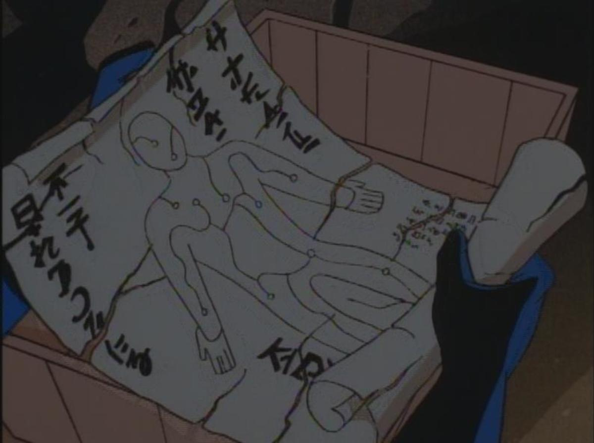 The scroll containing the secret to Kiba no Hoko as seen in Batman: The Animated Series.