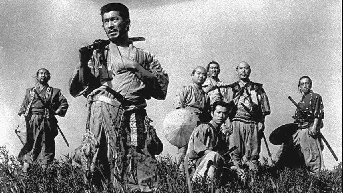Image from Akira Kurosawa's Seven Samurai, a classic film and chanbara movie.