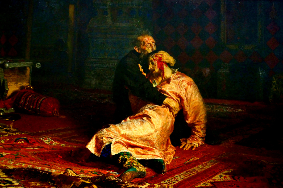 """Ivan the Terrible and His Son Ivan on November 16th, 1581"" by Ilya Yefimovich Repin"