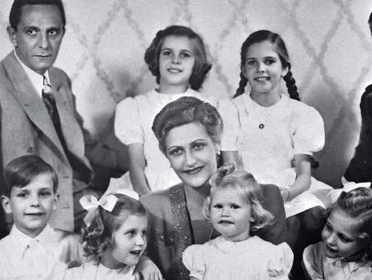 Joseph and Magda Goebbels and their children