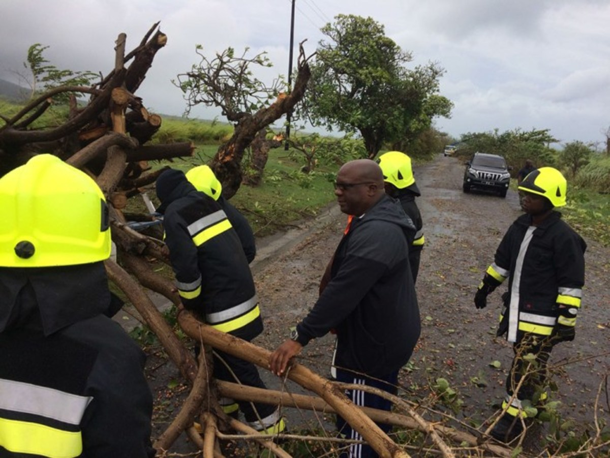 St. Kitts-Nevis received only minor damage from Irma, as PM, Dr. Timothy Harris, helps with the clean-up.