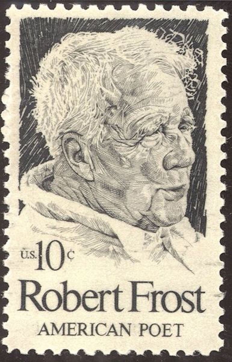 U.S stamp issued for the centennial of the poet Robert Frost