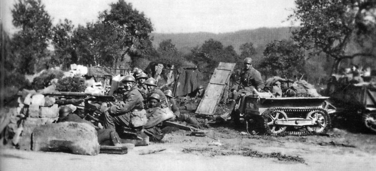 Most French soldiers, such as these at Stonne, a village which changed hands between the French and Germans 16 times in bitter fighting before the Germans finally prevailed, were brave and fought to the best of their capability.