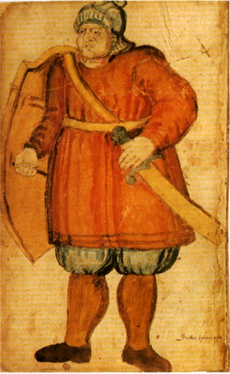 Pictured here is Grettir, the main character of one of the Icelandic Sagas
