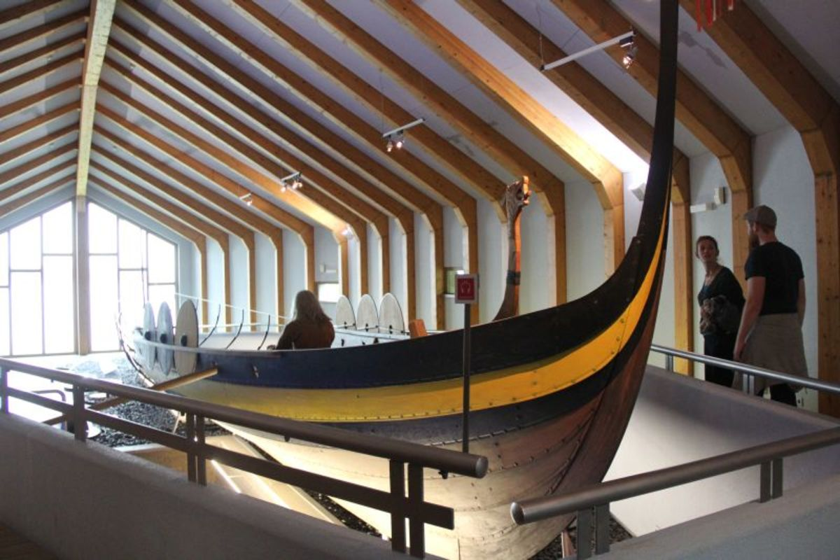 This longboat is from the Viking museum at Schleswig, which is located near the ancient settlement of Haithabu