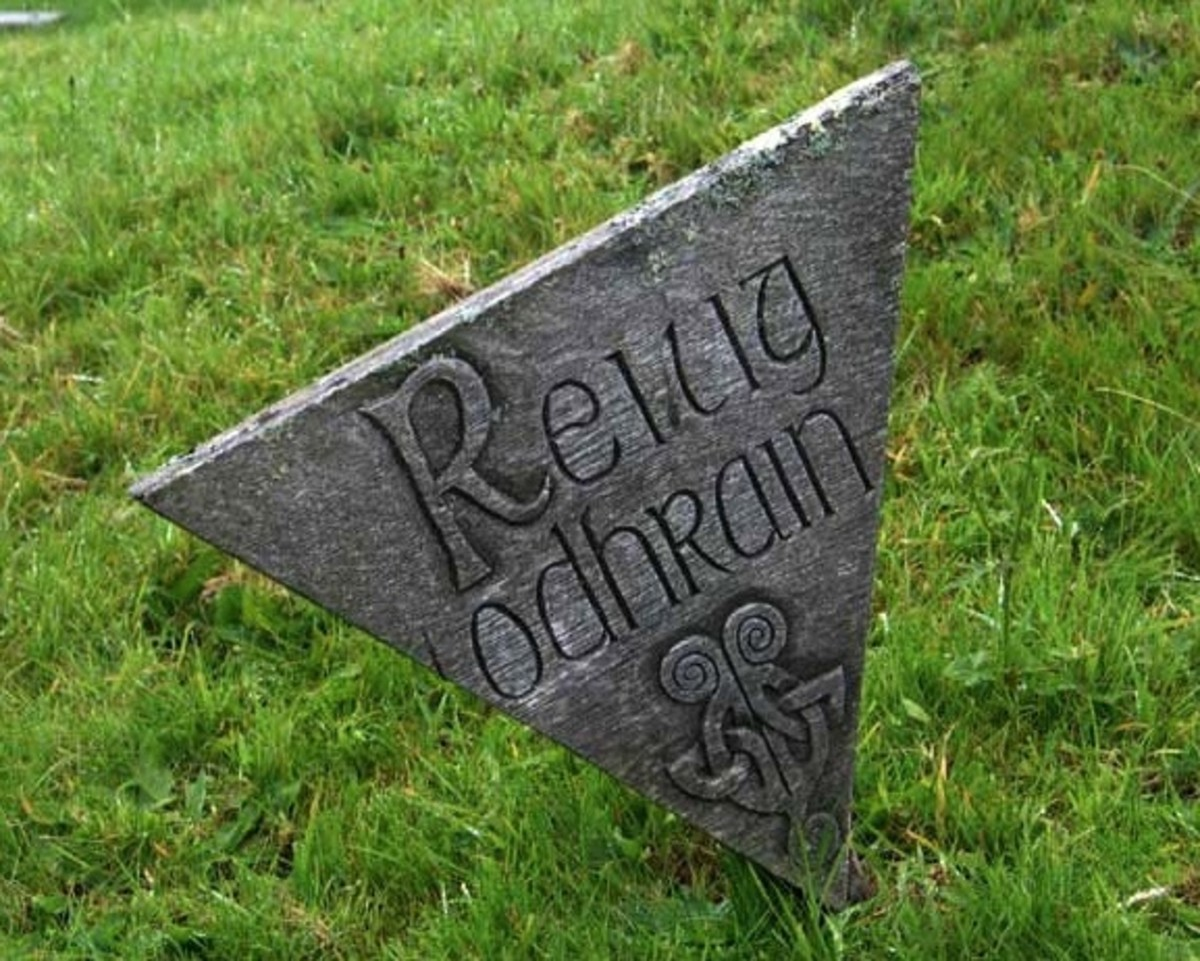 Reilig Odhrain marker (Whithorn Priory Museum - UK government website)