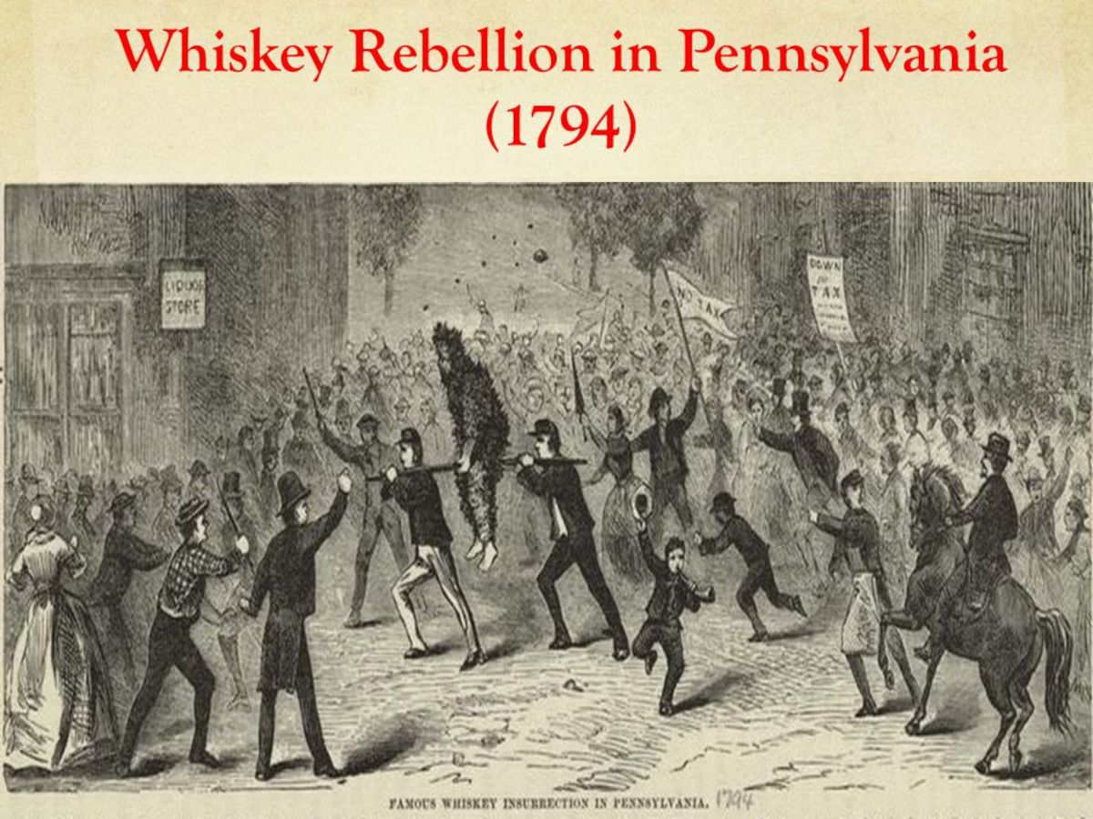 During the Whiskey Rebellion several tax collectors were tarred and feathered