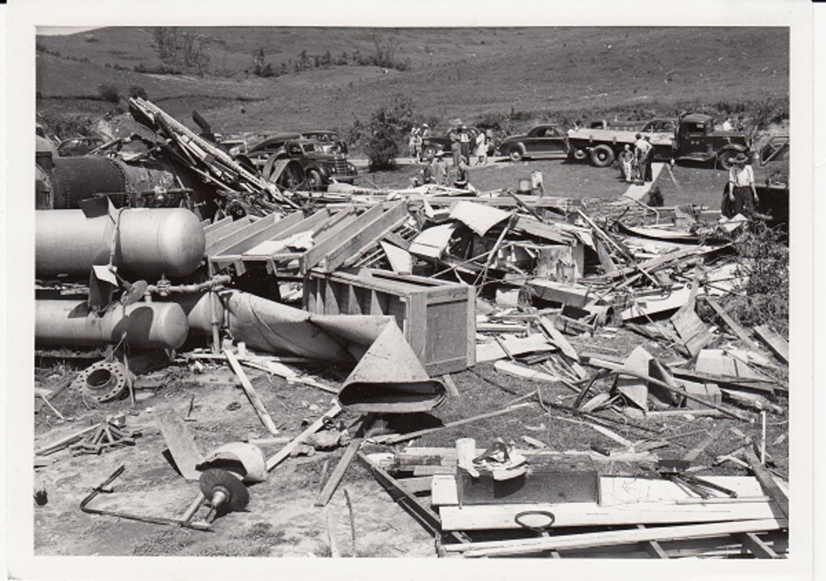Shinnston Tornado debris