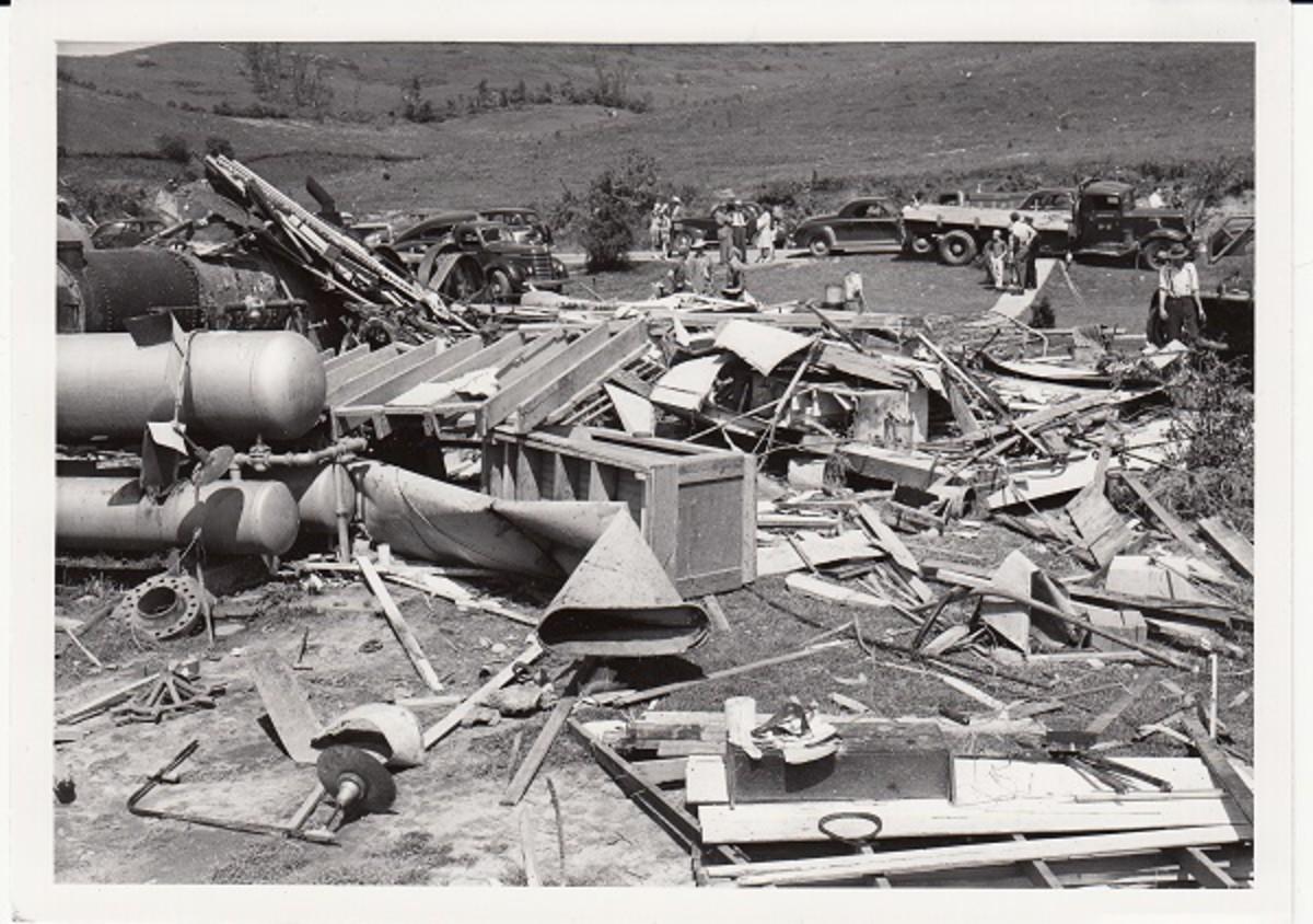 Shinnston Tornado debris