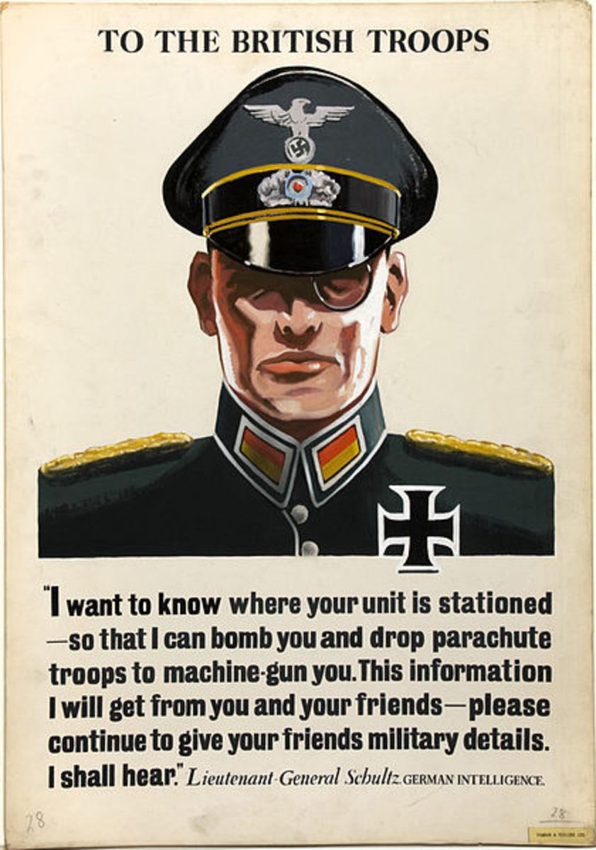 British propaganda poster.