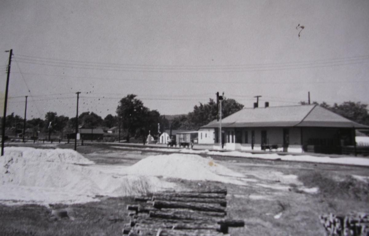 The second KCS Depot, located at the intersection of the rail lines and Dewey Avenue