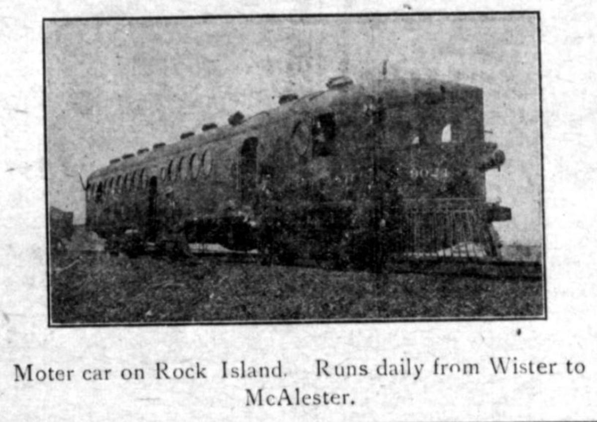 Motor Car on the Rock Island Railroad