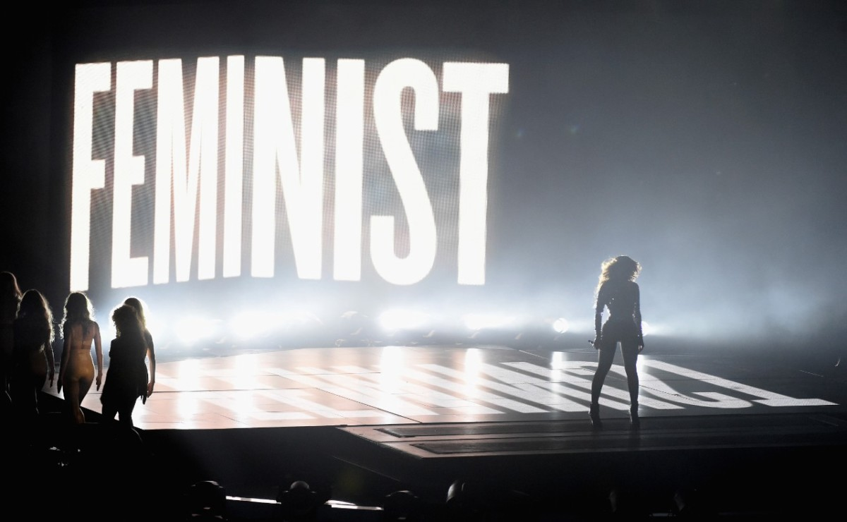 Beyoncé shouting out to counter-cultural feminism.
