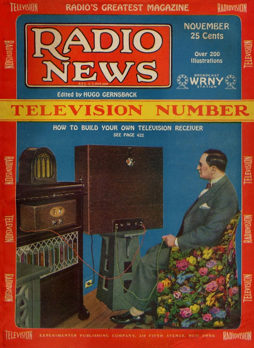 New York radio station WRNY Magazine in November 1928 carried an article on how to build your own television receiver.