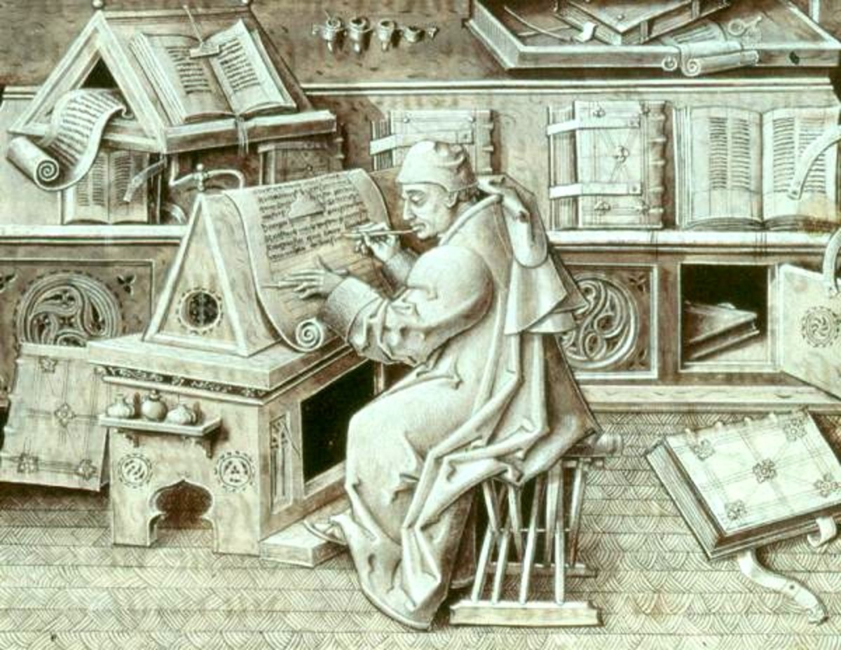 Medieval book publishing.