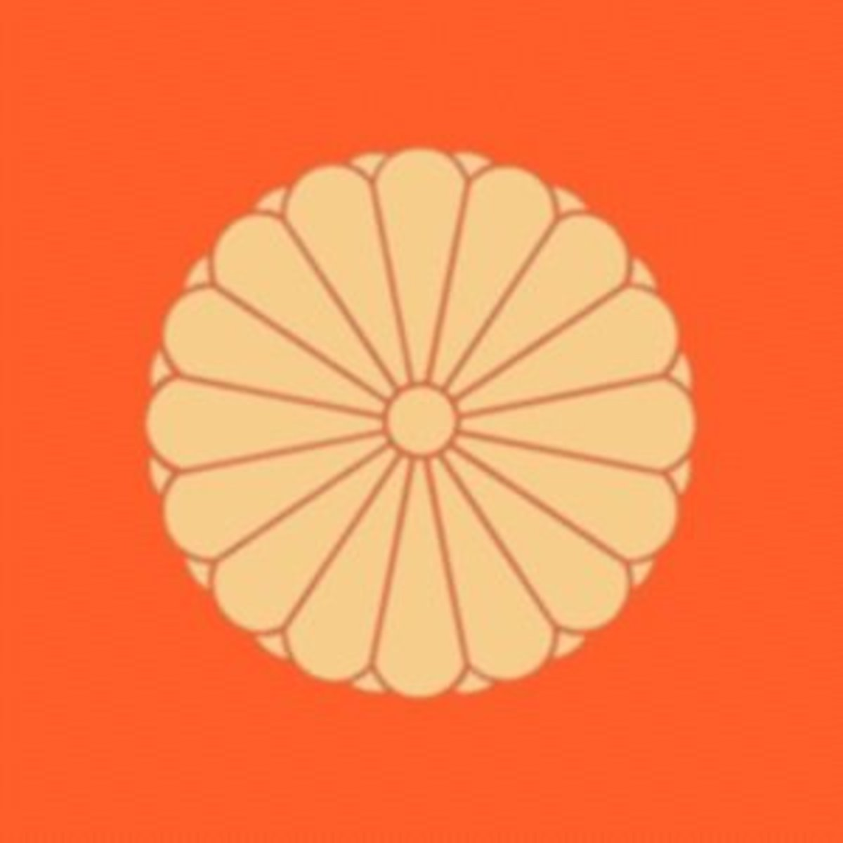 The Imperial Seal of Japan features a stylized representation of a chrysanthemum flower.