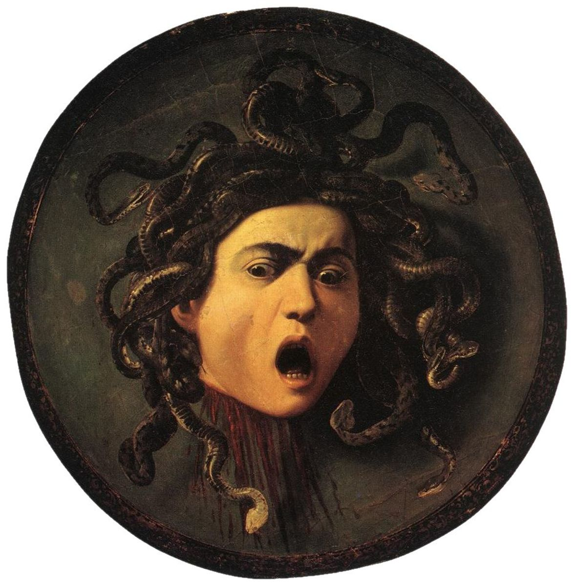 Caravaggio's Medusa is one of the most well-known representations of the gorgon.