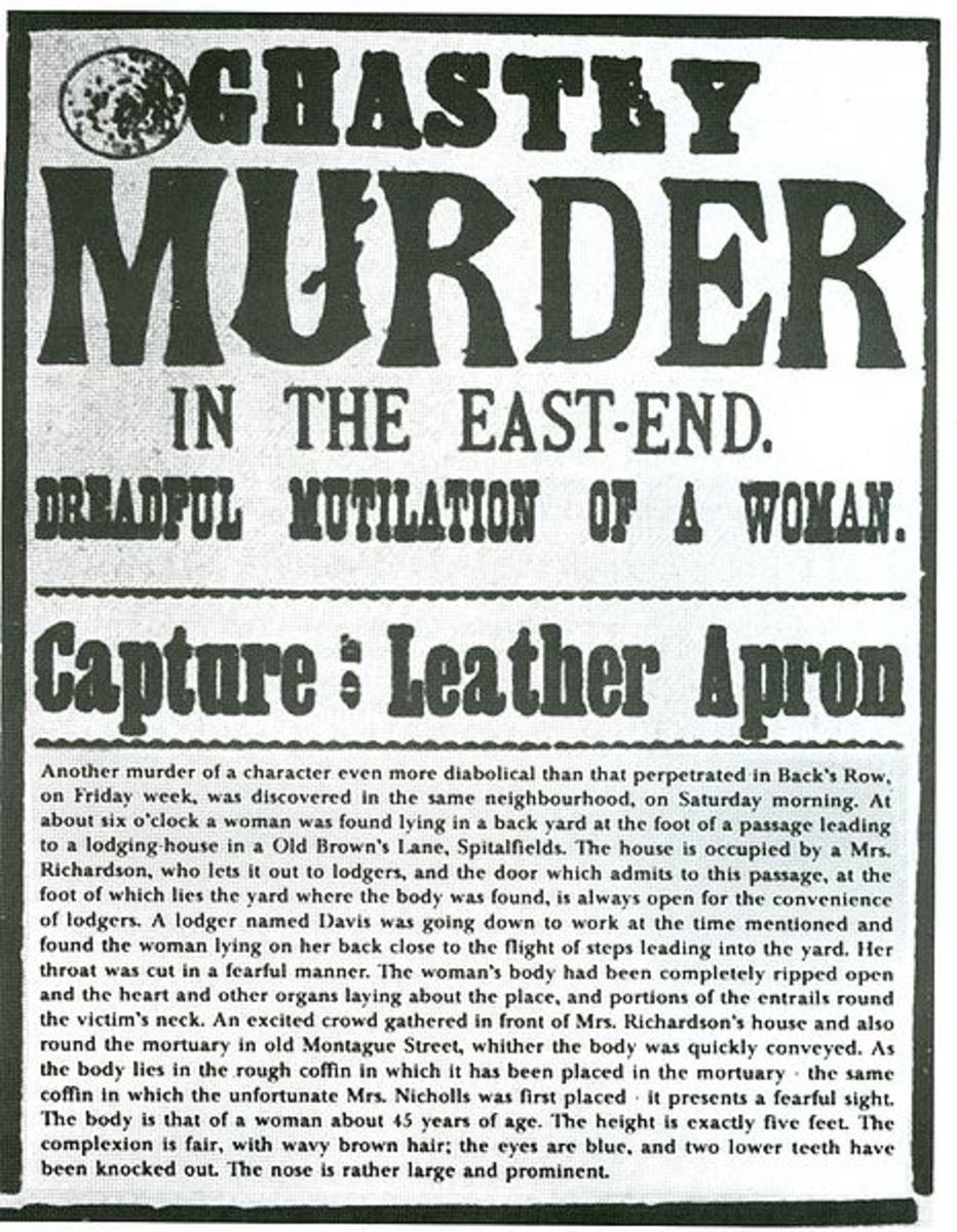 Before he was given the name Jack the Ripper by the media he was called Leather Apron.