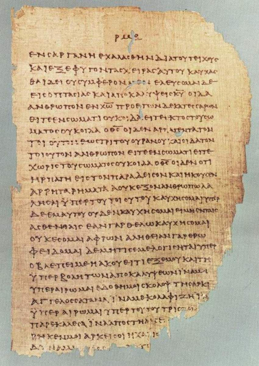 A page of manuscript P46, a late 2nd/early 3rd codex containing the Pauline epistles