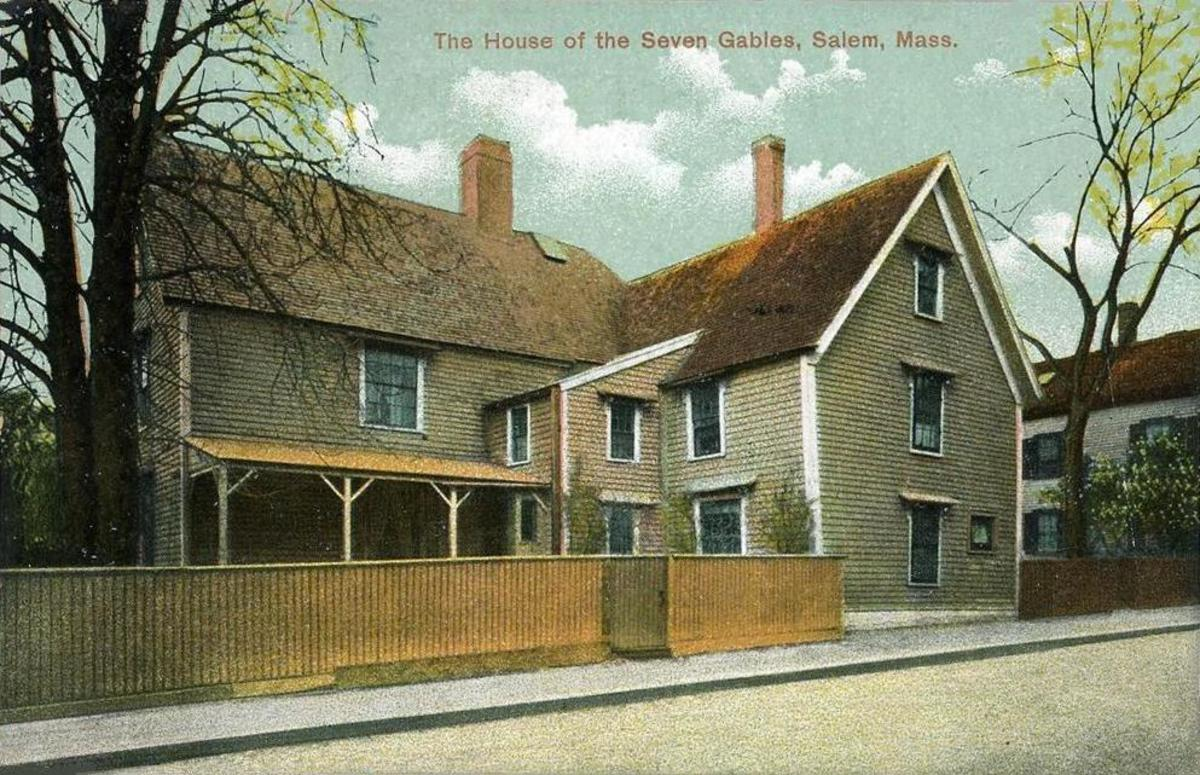 The House of Seven Gables in 1908 as it appeared before restoration