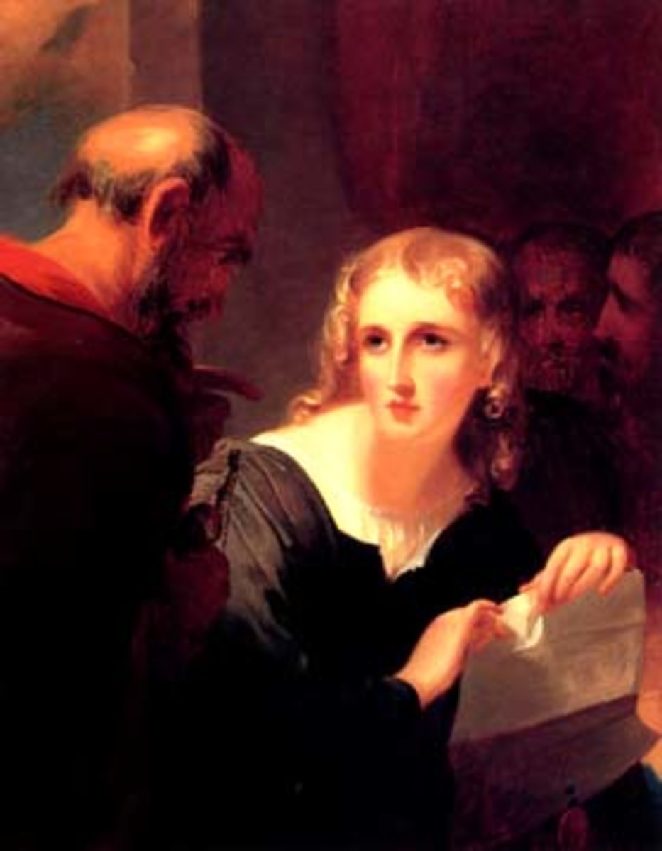 Portia and Shylock in the Court of Venice