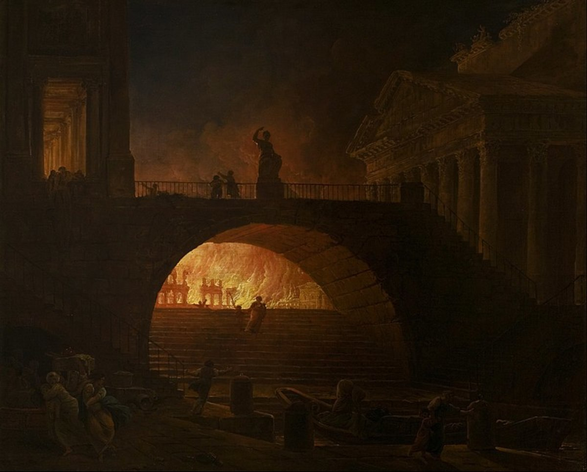 Nero blamed the great fire of Rome on the Christians